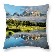 Blame It On The Tetons Throw Pillow