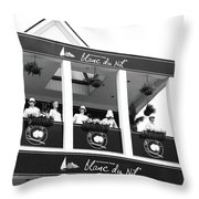 Blanc Du Nil - Nassau, Bahamas Throw Pillow