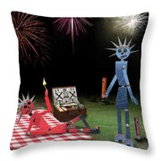 Blanche And Judy Celebrate The Fourth Throw Pillow