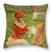 Blanche Hoschede Painting Throw Pillow