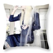 Blanco Beauty Throw Pillow
