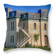 Blanco County Courthouse Throw Pillow