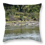 Blanco River - Texas Throw Pillow