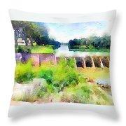 Blanco River Throw Pillow