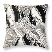 Blandings Angelfish Throw Pillow