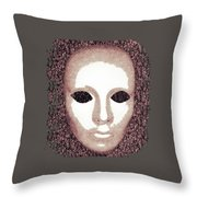 Blank Eyes Throw Pillow