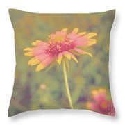 Blanket Flower Portrait Throw Pillow