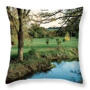 Blarney Castle Grounds Throw Pillow