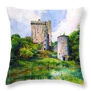 Blarney Castle Landscape Throw Pillow