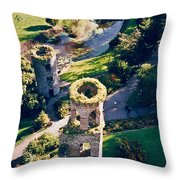 Blarney Castle Ruins In Ireland Throw Pillow