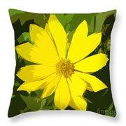 Blaze Of Yellow Throw Pillow