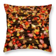 Blazen Leaves Throw Pillow