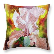Blazing Iris Throw Pillow