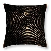 Bleached Circles Throw Pillow