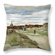 Bleaching Ground At Scheveningen Throw Pillow