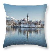 Bled Island Winter Dreams Throw Pillow