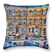 Bleecker Street In Bushwick - Brooklyn Throw Pillow