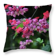 Bleeding Heart Vine Throw Pillow
