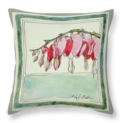 Bleeding Hearts II Throw Pillow
