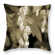 Bleeding Hearts In Sepia Throw Pillow