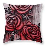 Bleeding Roses Throw Pillow