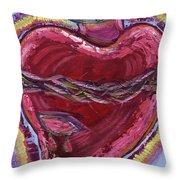Bleeding Sacred Heart Throw Pillow