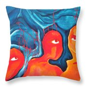 Bleeding Thoughts Throw Pillow