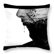 Bleeding Through Throw Pillow