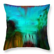 Lands Under The Sea - Abstract Landscape Throw Pillow