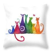 Blended Family Of Seven Throw Pillow