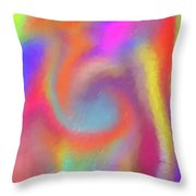 Blended Skittles Throw Pillow
