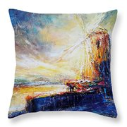 Blennerville Wind Mill Throw Pillow