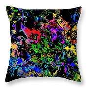 Blerderbergle Throw Pillow