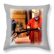 Blessed Be God Forever Throw Pillow