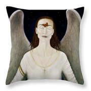 Blessed By A Winged Being Throw Pillow