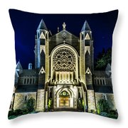 Blessed Sacrement Cathedral Throw Pillow