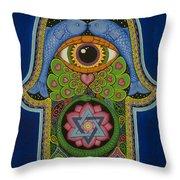 Blessing Throw Pillow by Galina Bachmanova