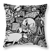 Blessing The Cattle In Riachos Throw Pillow