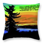 Blessings Of A New Day 2 Throw Pillow