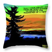 Blessings Of A New Day Throw Pillow