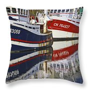 Bleu Blanc Rouge Throw Pillow