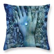 Bleu Danse Macabre Throw Pillow