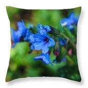 Bleu Throw Pillow