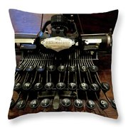 Blickensderfer No. 5 Out Of The Case Throw Pillow