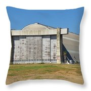 Blimp Hanger From Closed El Toro Marine Corps Air Station Throw Pillow