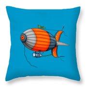 Blimp Orange Throw Pillow
