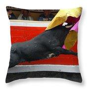 Blind Bull Throw Pillow