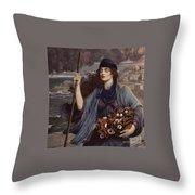 Blind Girl Of Pompeii Throw Pillow