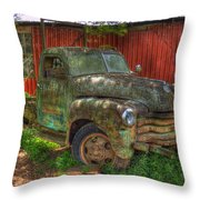 Blind In One Eye 1947 Chevy Flatbed Truck Art Throw Pillow
