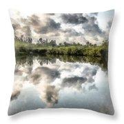 Blind Pass Bayou Sanibel Island Florida Throw Pillow
